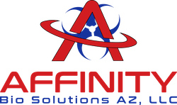Affinity Bio Solutions of Arizona Logo Crime scene cleanup hoarding home cleaners and biohazard cleaning