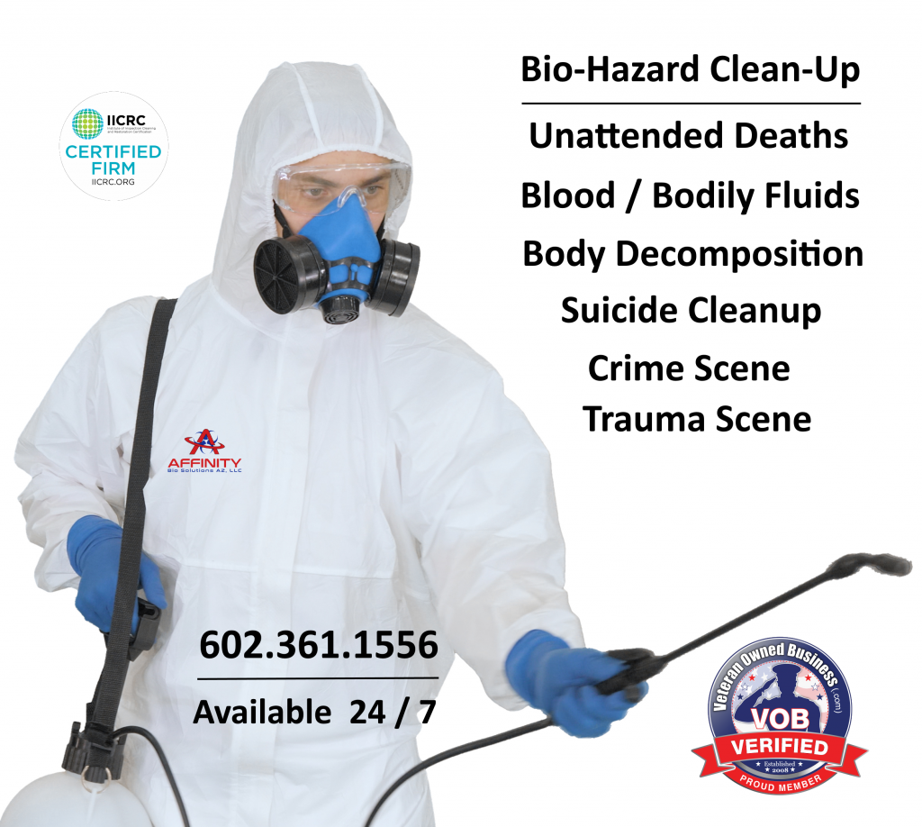 Phoenix Scottsdale Arizona Unattended Death Decomposition Biohazard Crime Trauma Scene Cleanup
