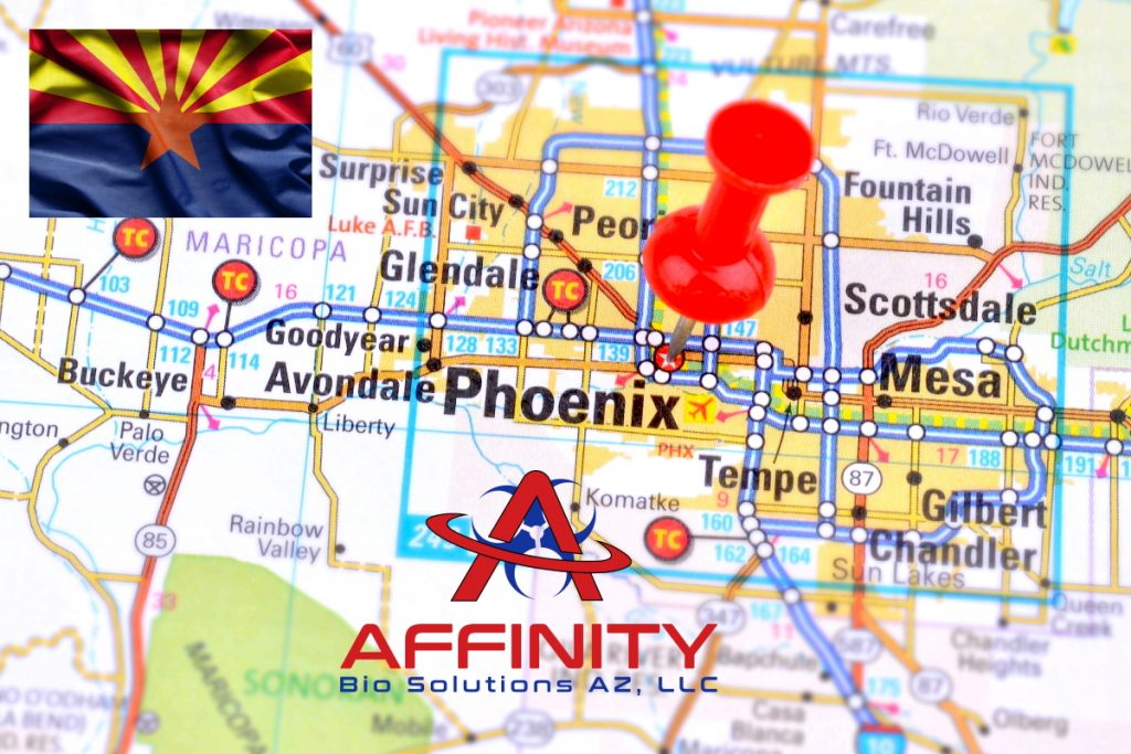 Scottsdale Phoenix Goodyear Peoria Avondale Sun City Surprise Glendale Tempe Arizona Crime Scene Cleanup